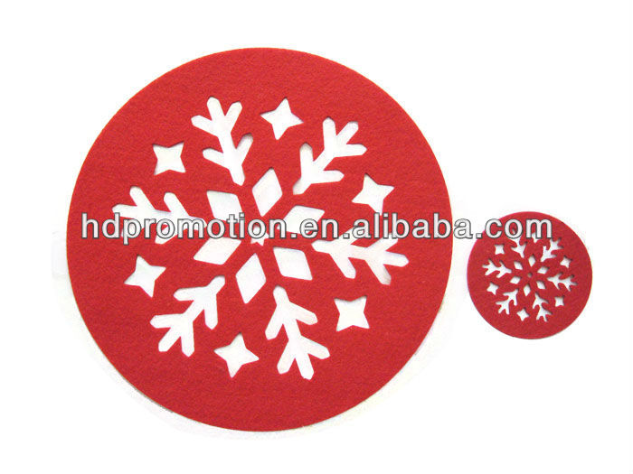 Felt Round Christmas Placemats - Buy Round Christmas Placemats ...