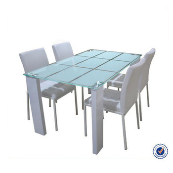 Chinese Modern Square Tempered Gl Dining Table Set 8 Seater Whole