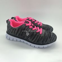Custom made cheap stylish women fabric athletic running sport shoes