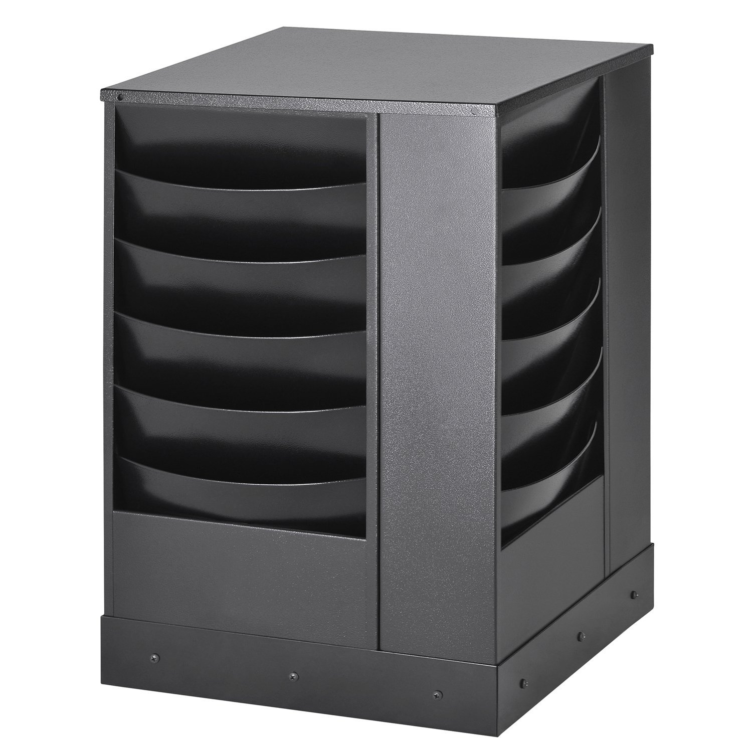 Buddy Products 20-Pocket Curved Steel Rotating Display Rack, 13.75 x 25.88 x 13.75 Inches, Black (0864-4)