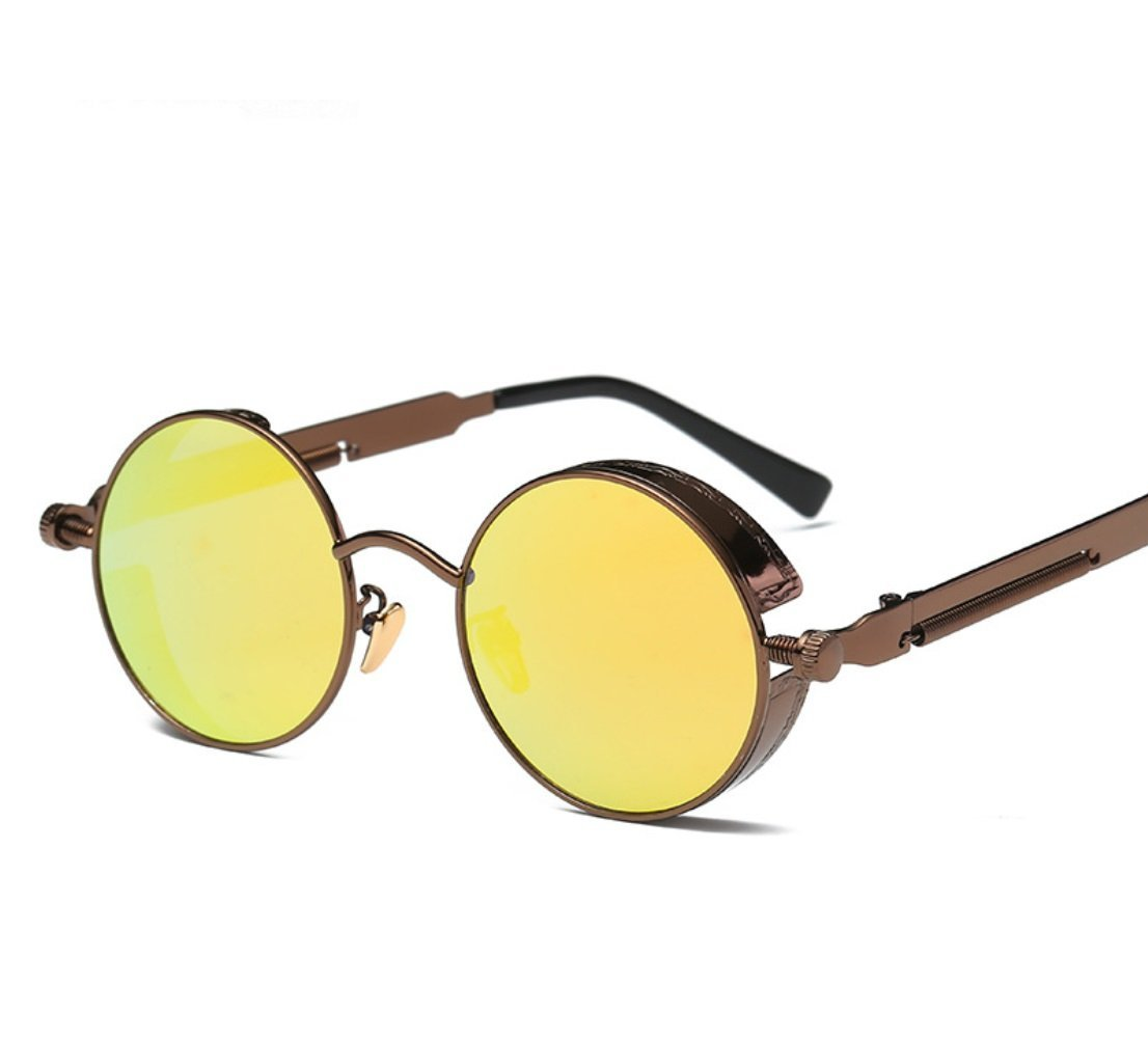 CUIYAN Fashion sunglasses Europe and the United States round personality reflective polarized sunglasses sunglasses men and women (Color : 5, Edition : Polarized light)