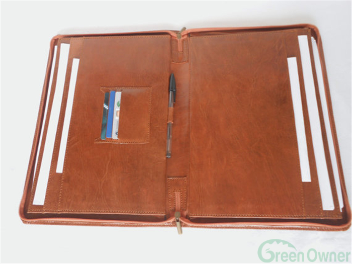 2017 can custom color/size/logo conference document Leather Padfolio,Handmade File Cover Decoration,Embossing Folder