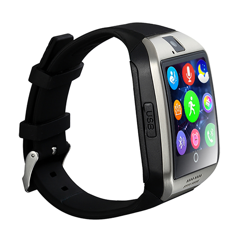 Micro sim card 2G network bluetooth 3.0 smartwatch Q18 for android <strong>phones</strong> on sale