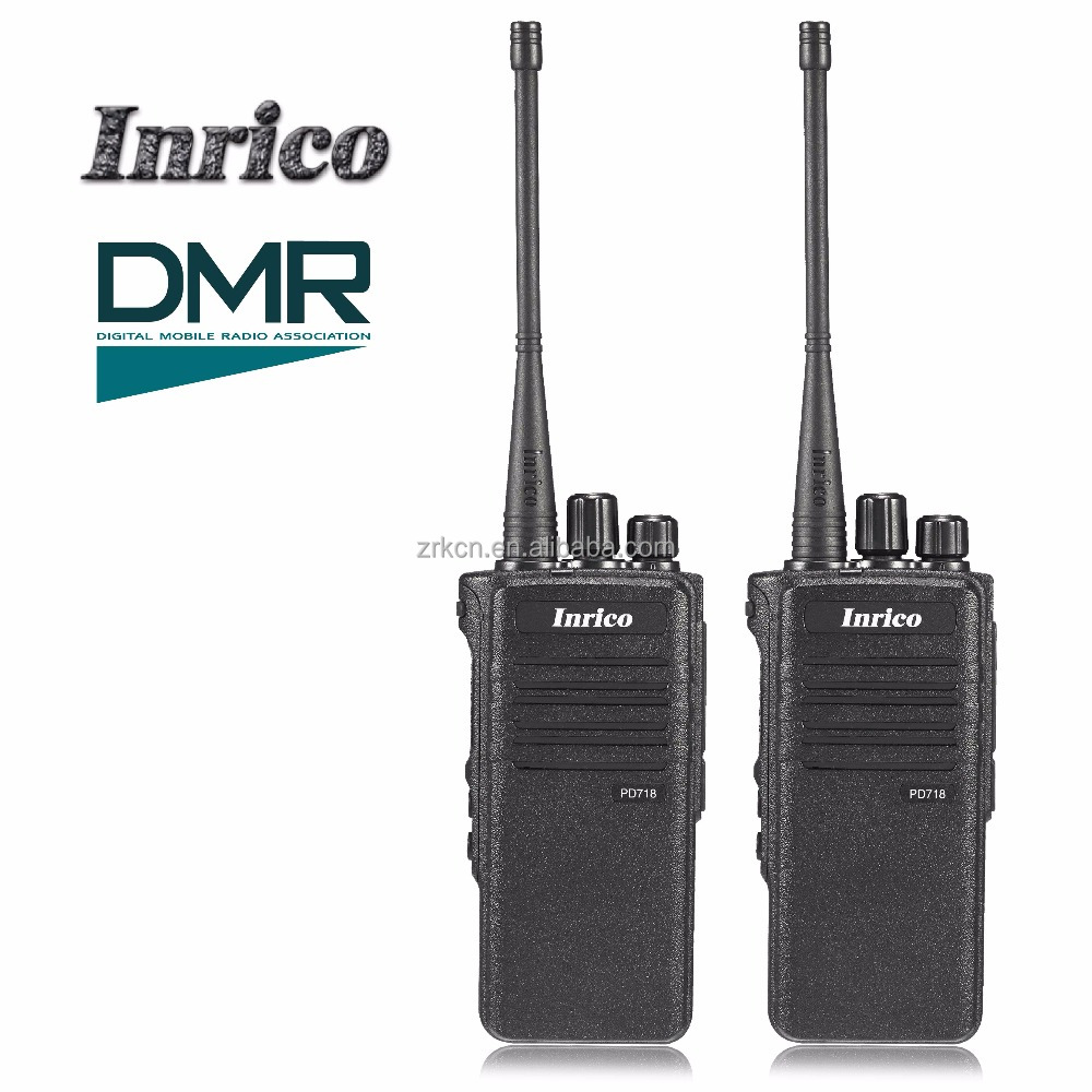 High Quality radio transceive Inrico PD718 5W 16 Channels IP67 waterproof VHF UHF DMR high frequency Digital radio walkie talkie