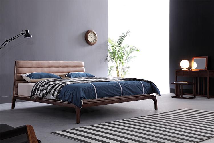 Contemporary Modern Latest Design Tufted Royal King Size Solid Wood Frame  Genuine Leather Upholstered Bed - Buy Modern Bedroom Furniture,King Size ...