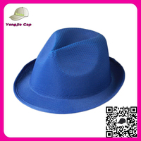 Cheapest New Fashion Free Pattern Unisex Summber Jazz Cap Blue Men Fedora Hat For Toddlers