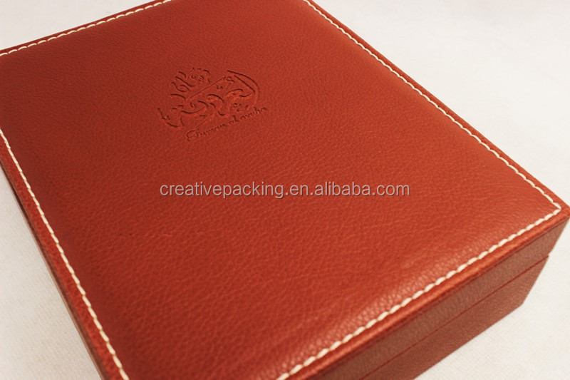 New Arrival Embossed Pu Red Perfume Box