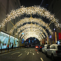 Popular wholesale festival items outdoor decorative christmas light arch