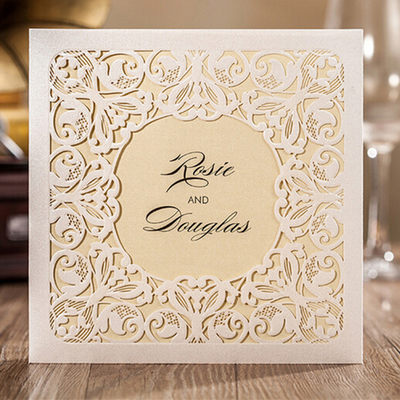 1pc Sample Of Wedding Party Invitation Cards Any Pattern