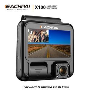 EACHPAI X100 Dual Car Dash Cam Front and Rear Full HD 1080p with infrared night vision for Uber Lyft Taxi camera