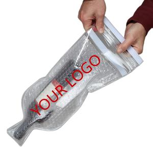 NEW PVC Plastic Protective Wine Bubble Skin Bag for Wine Bottle Protector