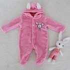 winter newborn baby clothing cartoon jumpsuit baby jumpsuit hoodie