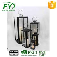 ML-1010 set of 5 New Design Wedding Metal Moroccan Hanging Outdoor Garden Led Candle Lantern