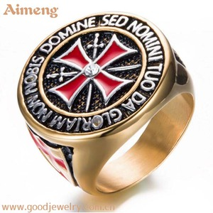 Cross stainless steel ring the knights templar men ring latest gold ring designs