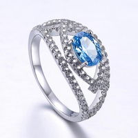Destiny Jewellery Wholesale s925 Sterling Silver Ring Fashion Gemstone Ring for wedding women