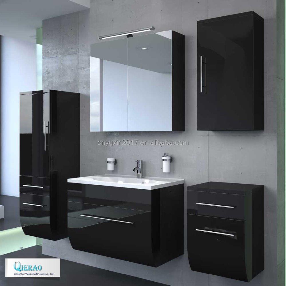 European modern bath furniture set curved bathroom vanity