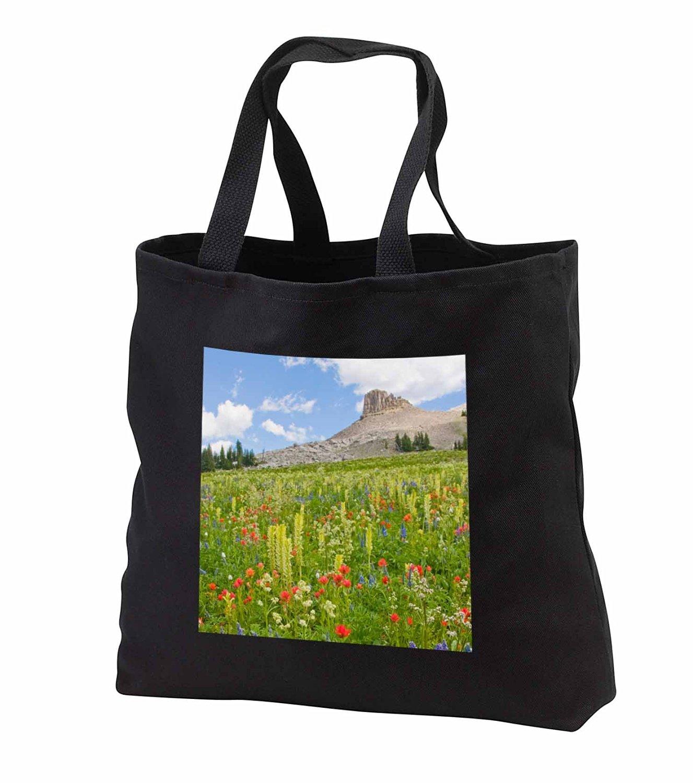 tb_231867 Danita Delimont - Wildflower - Wyoming, Grand Teton National Park, Spearhead Peak - Tote Bags