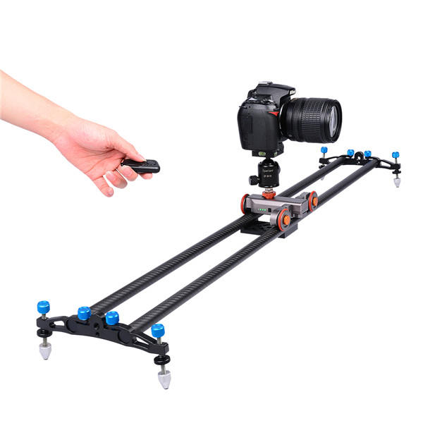 Motorized Camera Dolly Tabletop Autodolly Rail Rolling Slider Skater Aluminium Video Dolly Car for Digital SLR Cameras Video