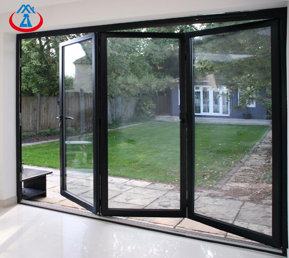 product-Zhongtai-Top Quality Powder CoatingAluminum With Double Tempered GlazingBi Folding Door-img