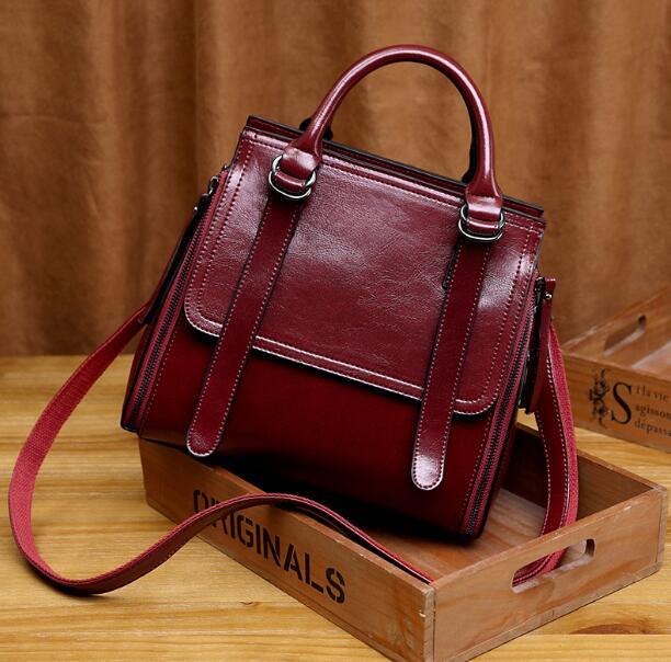 Женские сумки из натуральной кожи, роскошные брендовые дизайнерские сумки, женские сумки на плечо, сумка-портфель с цепочкой, ручная сумка ...(Китай)