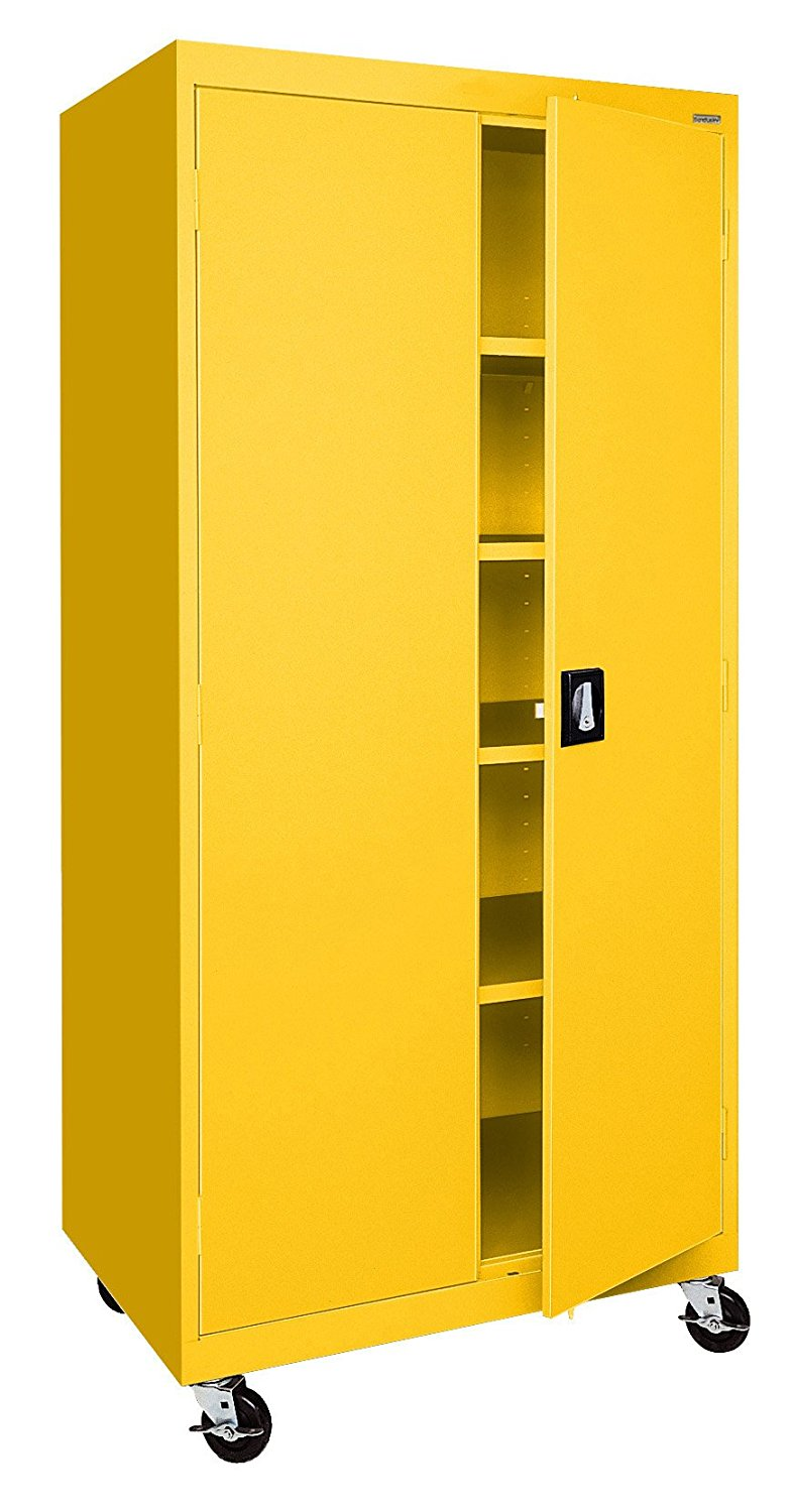 Sandusky Lee TA4R302466-EY Transport Series Mobile Storage Cabinet, Yellow