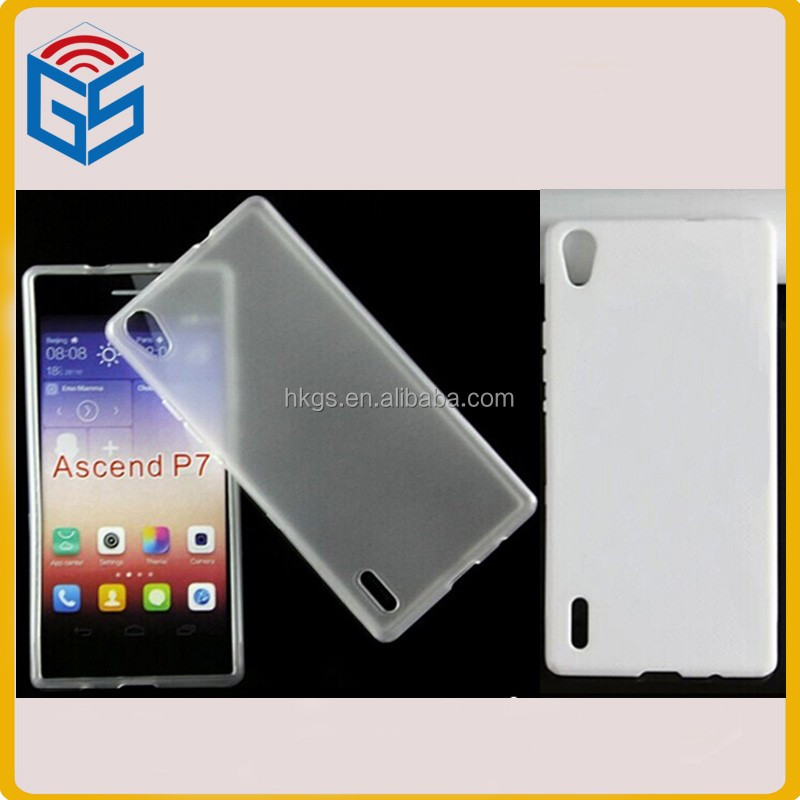 Cheap Price Soft TPU Jelly Case For Huawei Ascend P7 Mobile Phone Cover
