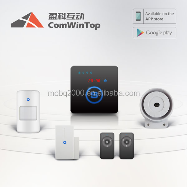 W20 High Quality Smart Home Security Wireless GSM Alarm System with Android APP control