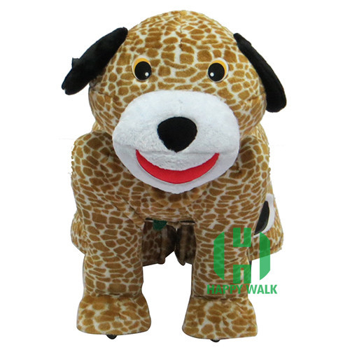 HI battery operated ride on horse for Kids Plush Animal Spotted dog Ride On Toy