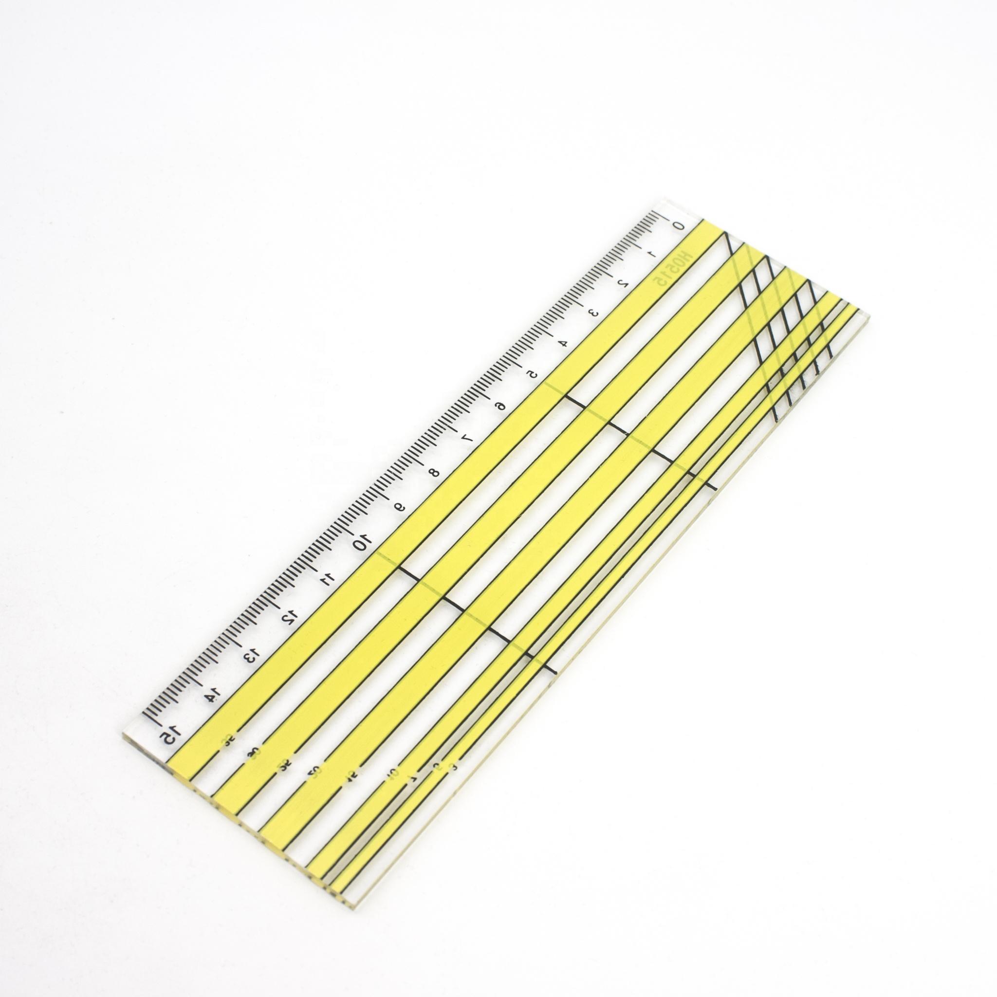 1pcs Bookmark Ruler Brass Metric Straight Ruler Measuring Tool for School 15cm Office,Home SENRISE Steel Ruler
