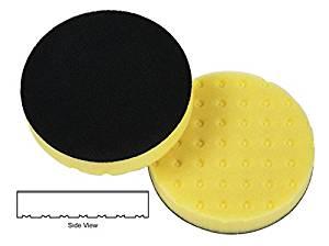 """Lake Country 6.5"""" CCS Yellow Flat Foam Cutting Buff Pads Auto Body 3-Pack"""