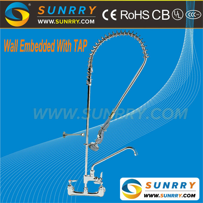 High pressure instant heating kitchen heater water dispenser faucet wall embedded with tap