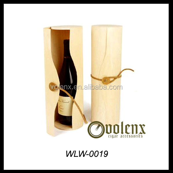 2015 Birch Venner Single Bottle Cylinder wooden wine box