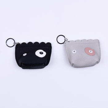 Multi color handmade expression coin holder keychain