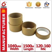 Jiangmen White Hotmelt/Solvent Kraft Paper Tape Provide custom printing for packing
