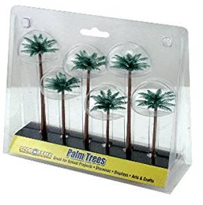 7 Pack SCENE A RAMA - WOODLAND SCENICS SCENE-A-RAMA PALM TREES