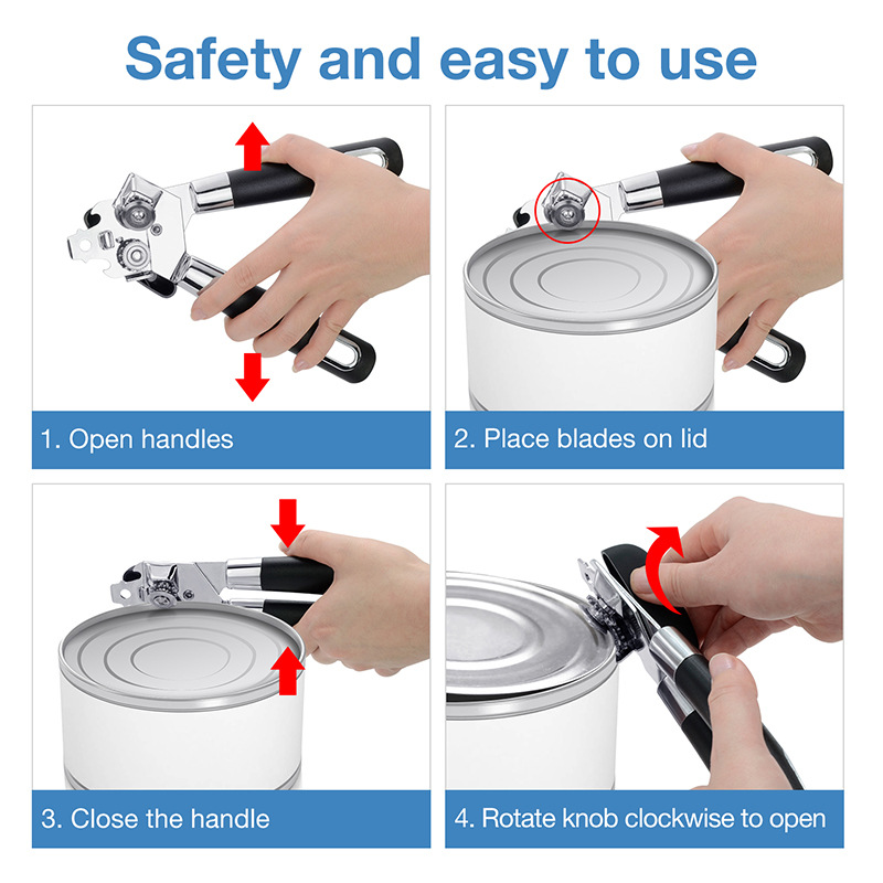Hot Sale Soft Grip Manual Can Opener With Wheel