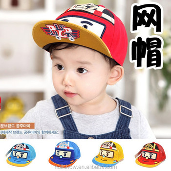 New Cartoon Car Kids Sun Caps Flat Brim Mesh Baby Boys Hat - Buy ... 0cc50a75676