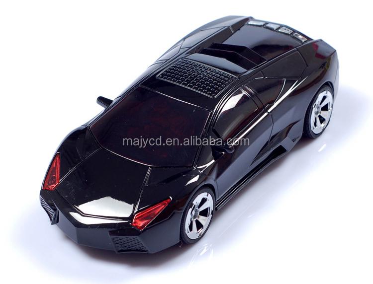 Car Model Mini Lamborghini Speaker With Digital Display Fm Radio ...