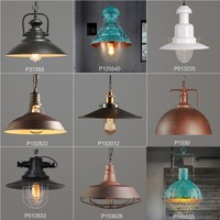 loft american classical vintage iron wood pendant lamp bar cafe lamp restaurant pendant light