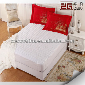 Hotel flat elastic mattress protector/topper supplier