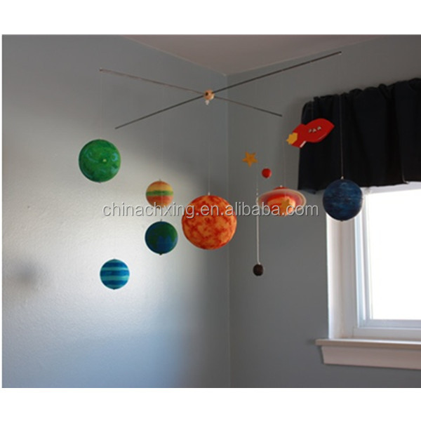 Customized colorful styrofoam polystyrene balls planet for home decoration
