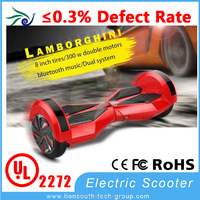 8 inch long range electric scooter self balancing electric scooter with samsung battery LG Bluetooth