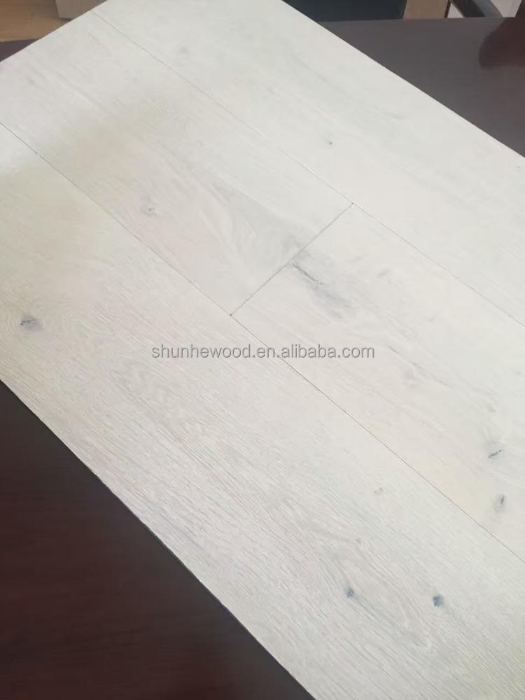 Wide Plank White Style Rustic Oak Engineered Wood Flooring Wash