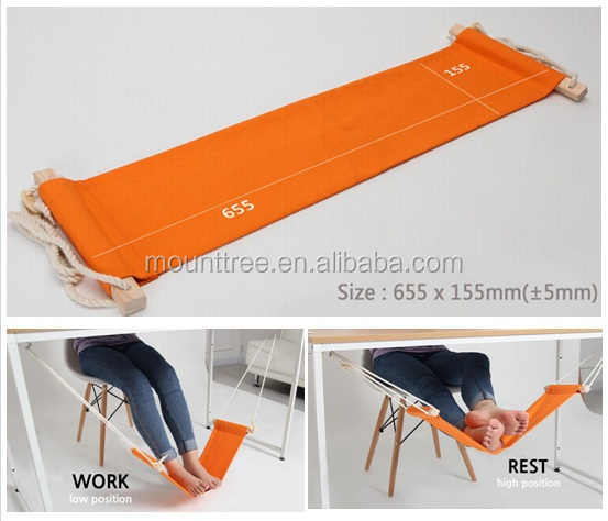 portable mini office foot rest hammock stand desk feet hammock easy disassemble hammock with studying library