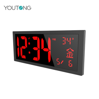 Large Number Digital Night Glow LED Wall Clock , LDE Clocks Australia