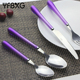 24pcs Flatware Set Stainless Steel Cutlery Set with Hanging Stand