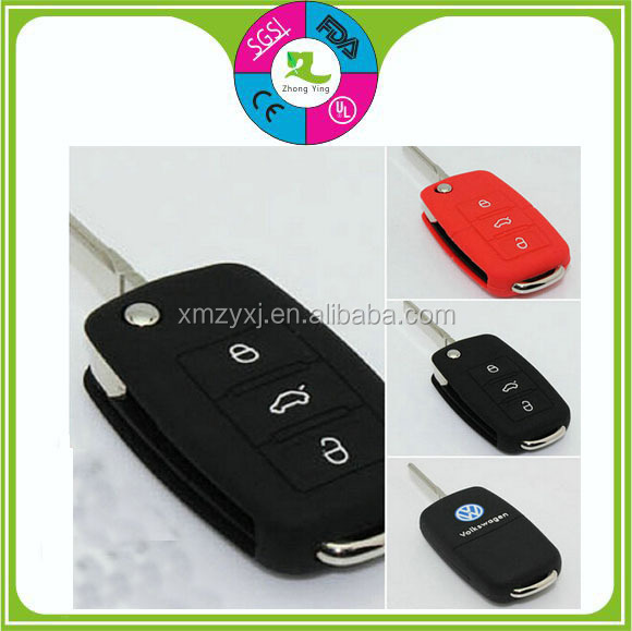 Soft rubber custom remote key cover for car key for Land/Buick/Ford/Chery/Audi/BMW car key covers with high quality hot colors