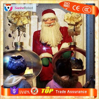 china supplier handmade animatronic christmas santa claus decoration - Animatronic Christmas Decorations