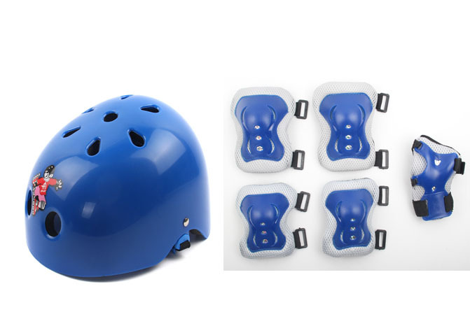 Kids Knee & Eblow Pads Safety Sport Protective Gear Bike Helmet for Kids Inline Skating Scootering Safety Combo