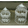2015 wedding white iron decor small bird cage